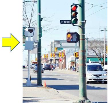 道端設置Redlight Camera